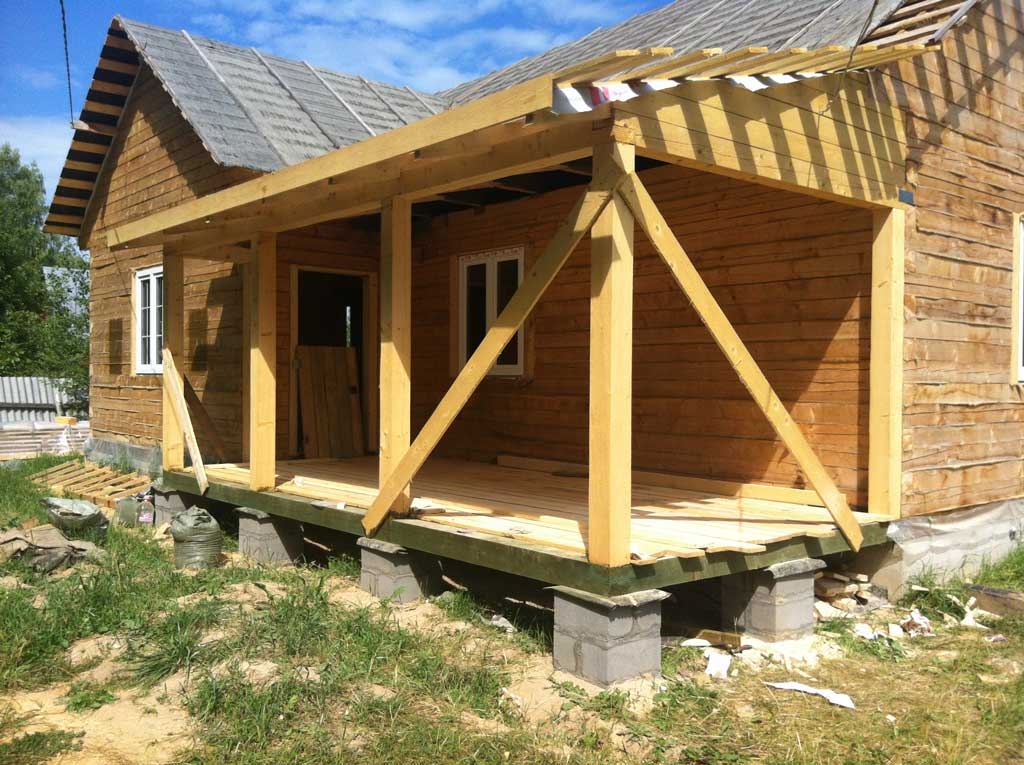 Как сделать крышу у пристройки к дому фото этапов строительства