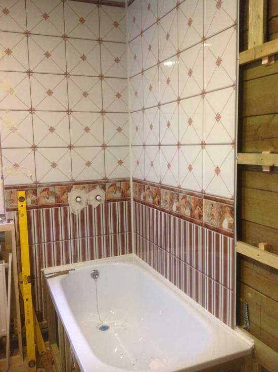 Пвх панели ванной комнате своими руками