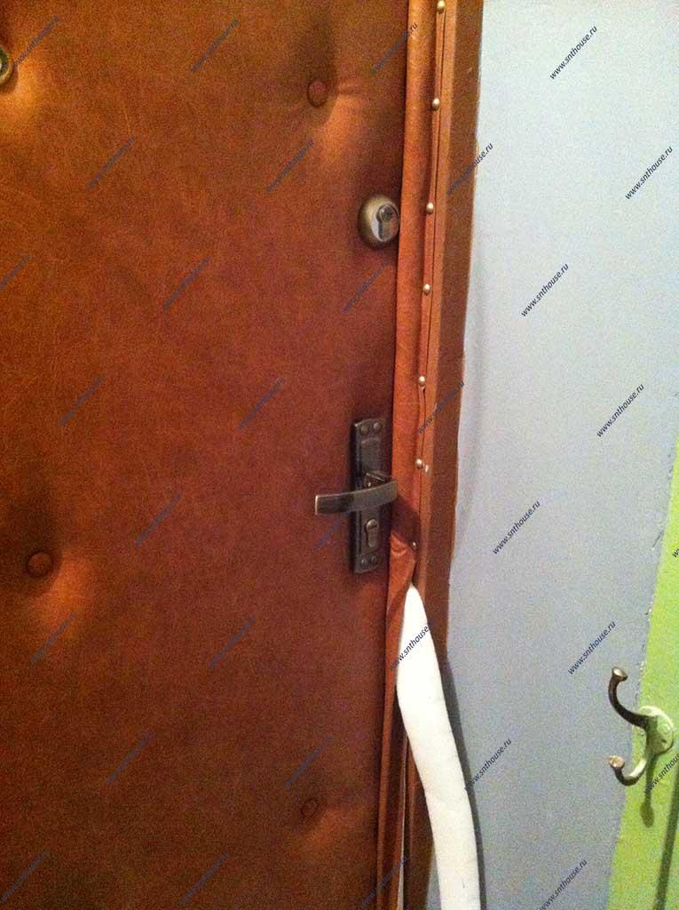 Как обшить металлическую дверь дермантином своими руками 80